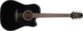 Takamine - Dreadnought Acoustic/Electric Cutaway Guitar - Black Gloss