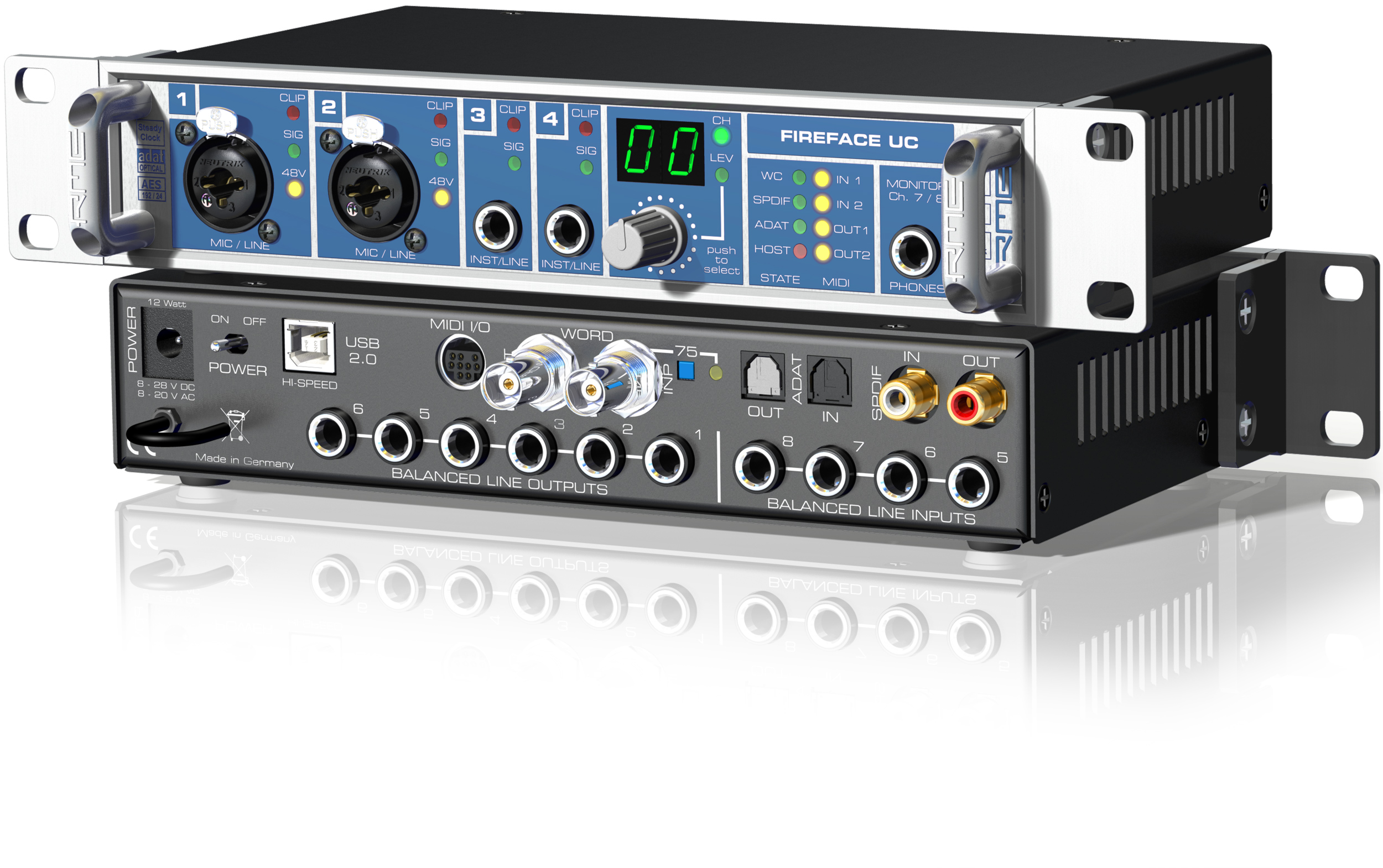 Rme 36 Channel 24 Bit 192khz Usb Audio Interface Long Mcquade Cable Neutrik Xlr 1 4quot Combo Jacks And Phantom Power Sound Design Musical Instruments