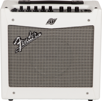 fender mustang 1 guitar amp v2 white tolex long mcquade musical instruments. Black Bedroom Furniture Sets. Home Design Ideas
