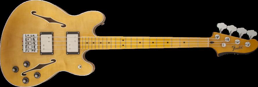 fender starcaster maple neck bass guitar natural long mcquade musical instruments. Black Bedroom Furniture Sets. Home Design Ideas