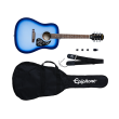 Epiphone - Starling Acoustic Guitar Starter Pack - Starlight Blue
