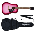 Epiphone - Starling Acoustic Guitar Starter Pack - Hot Pink