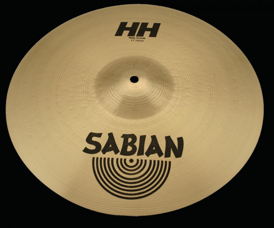 sabian hh thin crash cymbal brilliant 16 inch long mcquade musical instruments. Black Bedroom Furniture Sets. Home Design Ideas