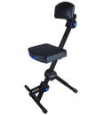 QuikLok - Adjustable Musicians Stool w/Adjustable Footrest and Back Rest
