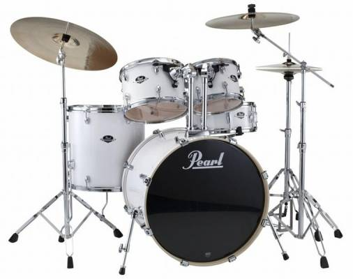 Export Series 5 Piece Drum Kit w/Hardware & Cymbals - Pure White