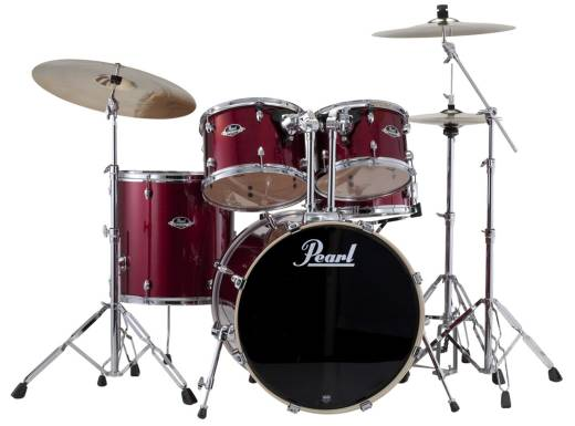 Export Series 5 Piece Drum Kit w/Hardware & Cymbals - Red Wine