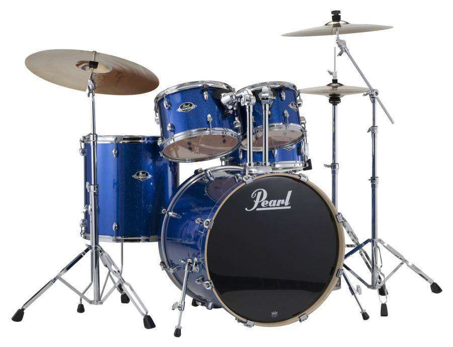 pearl export series 5 piece drum kit w hardware cymbals electric blue long mcquade. Black Bedroom Furniture Sets. Home Design Ideas