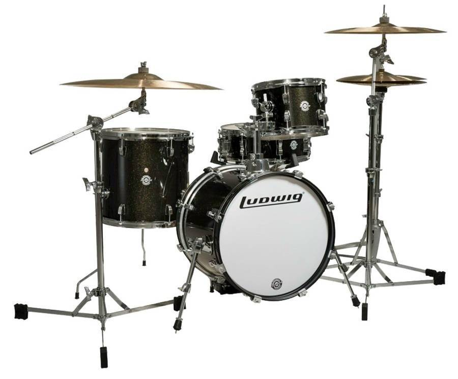 Ludwig Drums Breakbeat By Questlove 4 Piece Drum Kit - Black Sparkle - Long    McQuade Musical Instruments 2a38976e252a