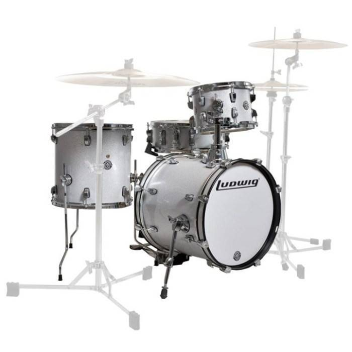 Ludwig Drums Breakbeat By Questlove 4 Piece Drum Kit White Sparkle