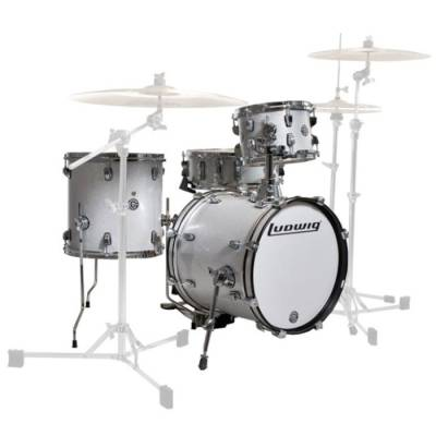 ludwig drums breakbeat by questlove 4 piece drum kit white sparkle long mcquade musical. Black Bedroom Furniture Sets. Home Design Ideas