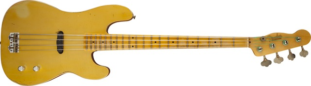 Dusty Hill Signature P Bass Guitar - Nocaster Blonde