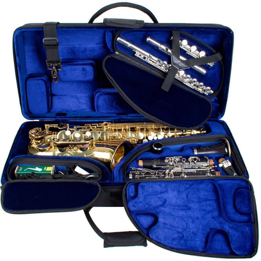 Protec Tri Pac Case Alto Sax Clarinet Flute Long