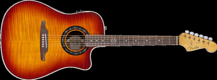 fender sonoran bucket acoustic electric guitar flame burst long mcquade musical instruments. Black Bedroom Furniture Sets. Home Design Ideas