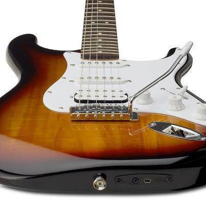squier usb ios stratocaster electric guitar brown sunburst long mcquade musical instruments. Black Bedroom Furniture Sets. Home Design Ideas