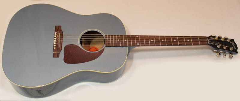 gibson j45 standard acoustic guitar limited edition pelham blue long mcquade musical. Black Bedroom Furniture Sets. Home Design Ideas