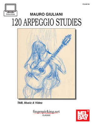 Mauro Giuliani: 120 Arpeggio Studies - Brandoni - Book/Video Online