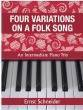 Debra Wanless Music - Four Variations On A Folk Song - Schneider - Piano Trio (1 Piano/6 hands) - Book
