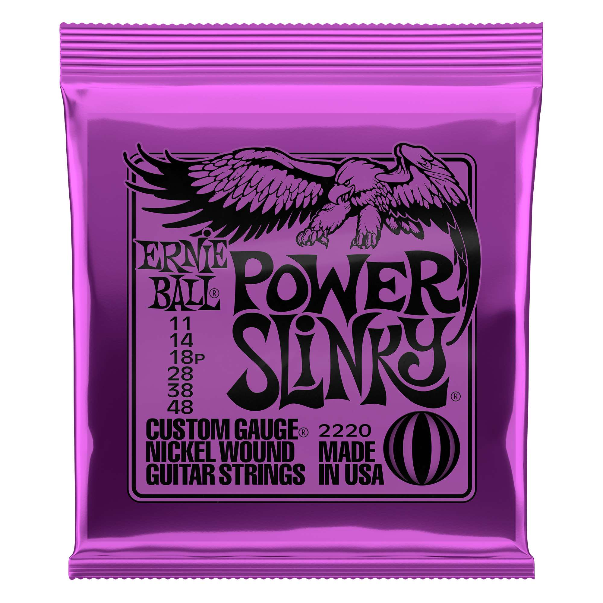 2 PACKS Ernie Ball 11-48 Power Slinky Cobalt 2720 electric guitar strings