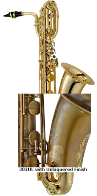 PMB-302UL - Baritone Sax in Unlacquered - to Low Bb