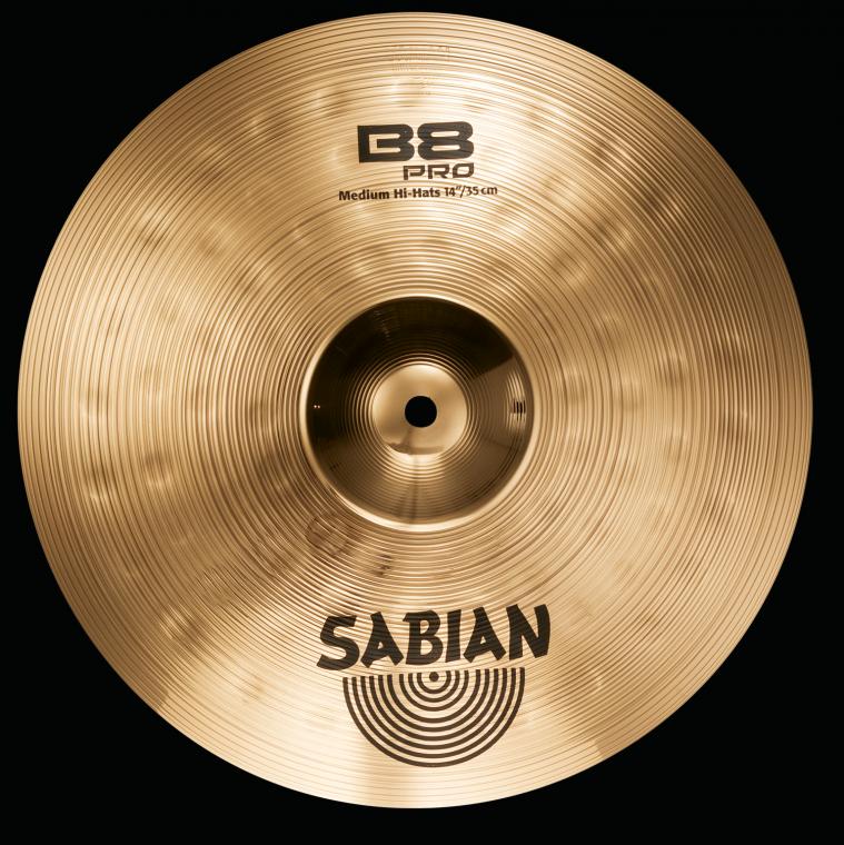 sabian b8 pro medium hi hats cymbals brilliant 14 inch long mcquade musical instruments. Black Bedroom Furniture Sets. Home Design Ideas