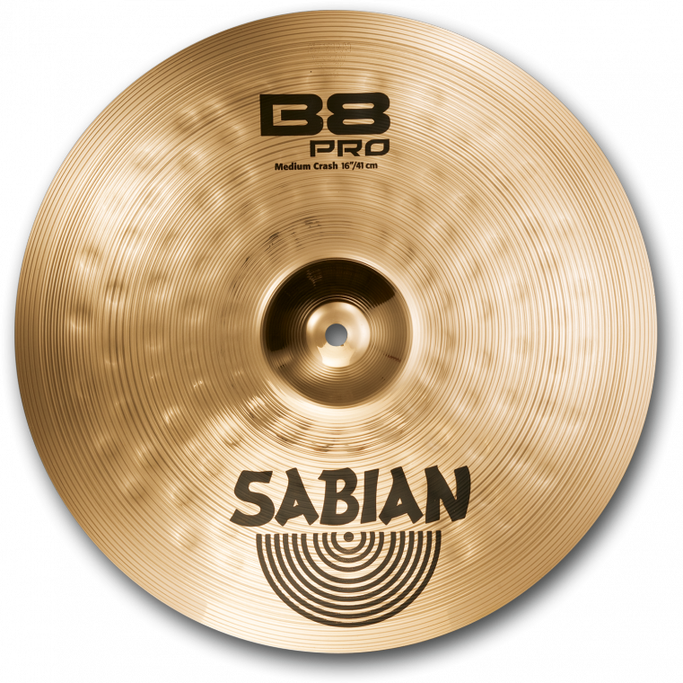 sabian b8 pro medium crash cymbal brilliant 16 inch long mcquade musical instruments. Black Bedroom Furniture Sets. Home Design Ideas