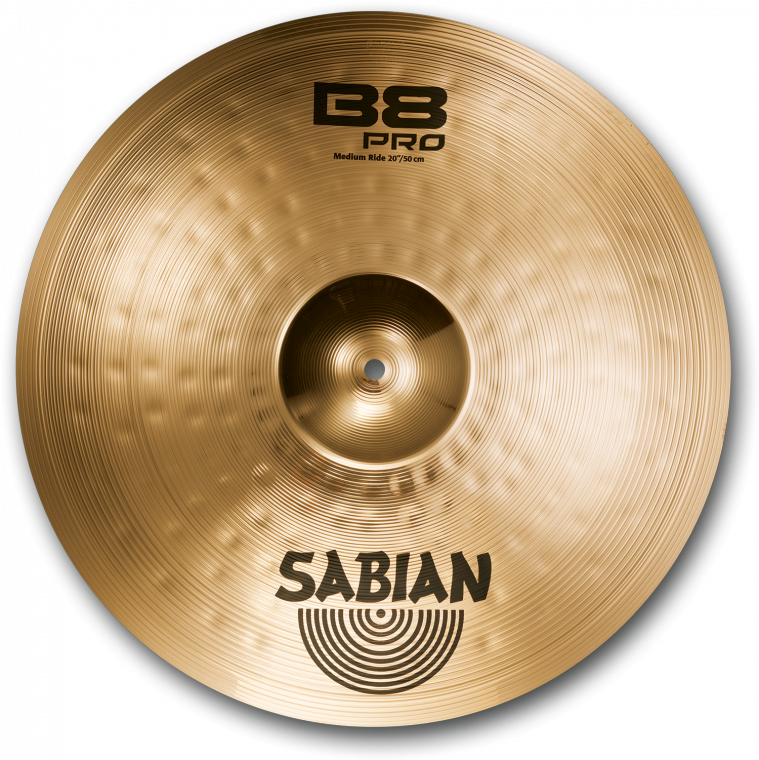 sabian b8 pro medium ride cymbal brilliant 20 inch long mcquade musical instruments. Black Bedroom Furniture Sets. Home Design Ideas