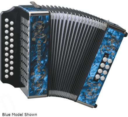 Diatonic Accordion - Key G/C - Red