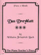 Manduca Music Publications - Das Dreyblatt - W.F.E. Bach - Piano (1 Piano, 6 Hands)