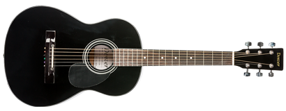 denver acoustic guitar 3 4 size black long mcquade musical instruments. Black Bedroom Furniture Sets. Home Design Ideas