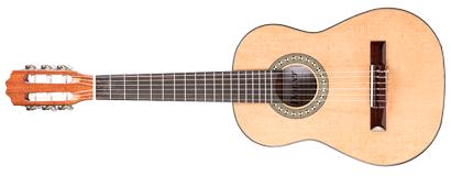 denver classical guitar 1 2 size left handed natural long mcquade musical instruments. Black Bedroom Furniture Sets. Home Design Ideas