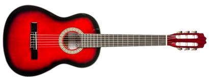 denver classical guitar 3 4 size red long mcquade musical instruments. Black Bedroom Furniture Sets. Home Design Ideas