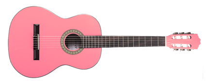 denver classical guitar full size pink long mcquade musical instruments. Black Bedroom Furniture Sets. Home Design Ideas