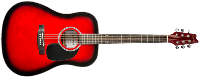 Acoustic Guitar - Full Size - Red