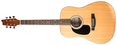 denver acoustic guitar full size left handed natural long mcquade musical instruments. Black Bedroom Furniture Sets. Home Design Ideas