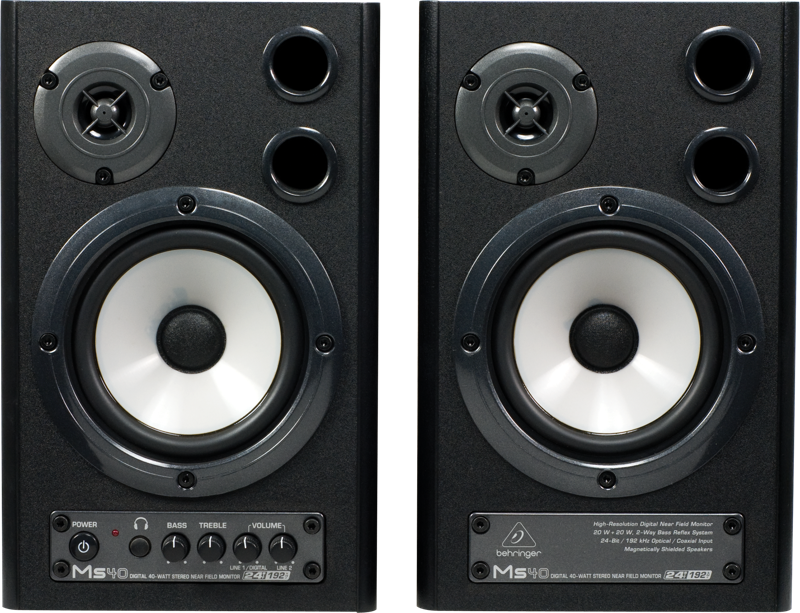 how to set up speakers on monitor