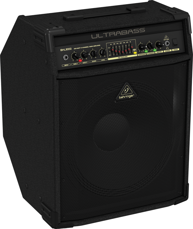 behringer 300 watt 2 channel bass amplifier w original bugera speaker long mcquade musical. Black Bedroom Furniture Sets. Home Design Ideas