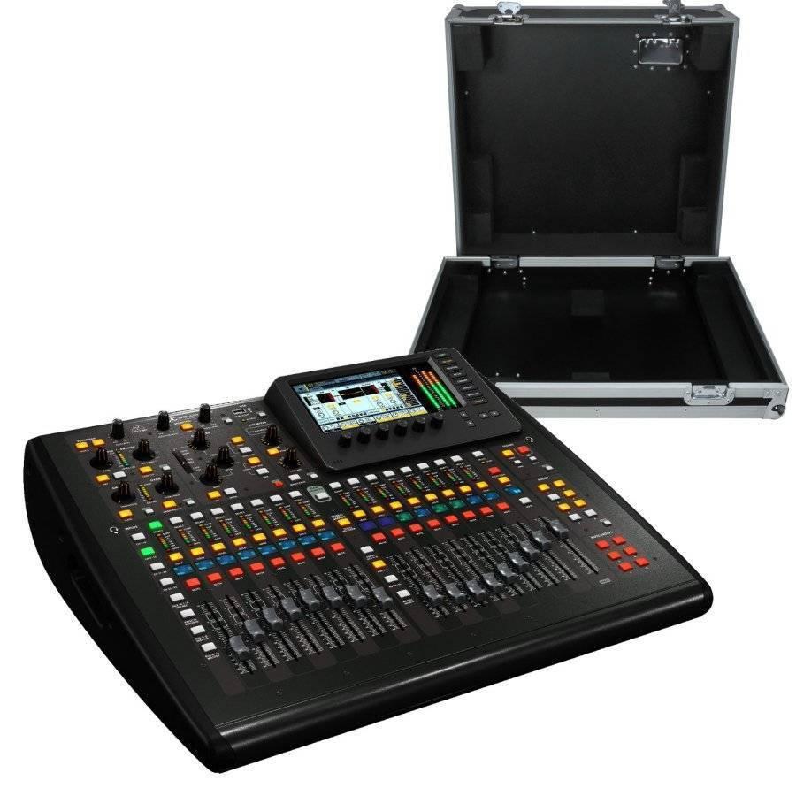 behringer compact digital mixer w flight case long mcquade musical instruments. Black Bedroom Furniture Sets. Home Design Ideas