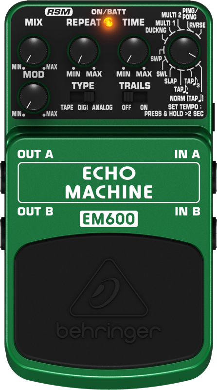 behringer echo modeling effects pedal long mcquade musical instruments. Black Bedroom Furniture Sets. Home Design Ideas