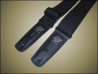 Lock-It Guitar Straps - 2 inch Cotton Strap - Black