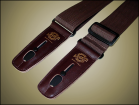 Lock-It Guitar Straps - 2 inch Poly - Brown