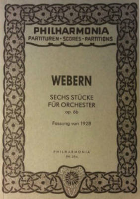 Six Pieces For Orchestra, Op.6 - Webern - Study Score