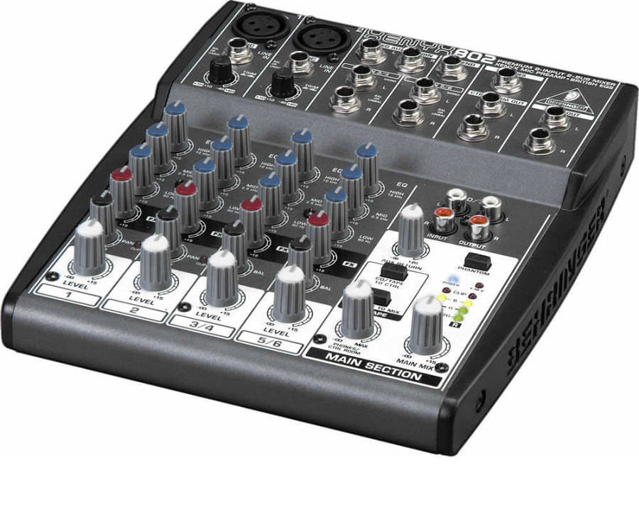 Behringer - Xenyx 8 Inputs and 2 Bus Mixer