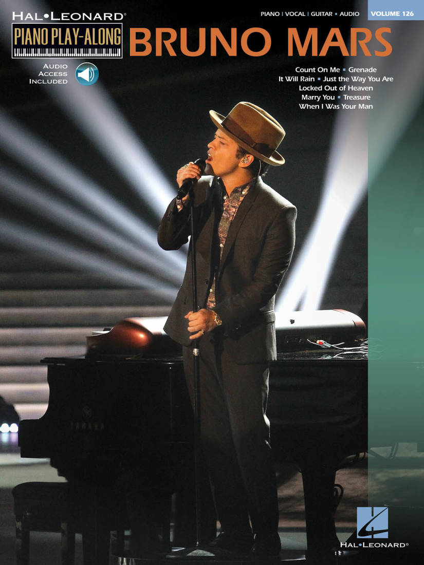 Hal Leonard Bruno Mars Piano Play Along Volume 126 Pianovocal