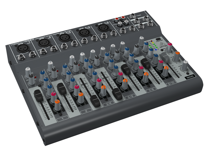behringer 10 input live mixer w xenyx mic preamps long mcquade musical instruments. Black Bedroom Furniture Sets. Home Design Ideas