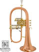 Kanstul - 1525 Bb Flugelhorn - Copper Bell, Lacquer Finish