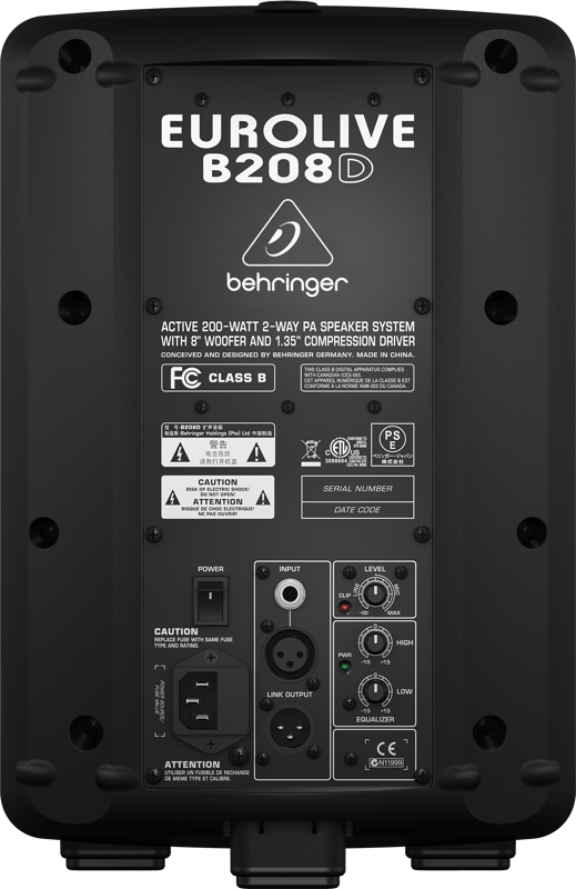 speakers 200 watts. 200 watt active 2 way pa speaker system w/woofer - 8 inch speakers watts