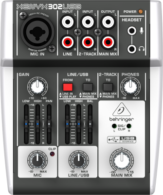 5 Input Mixer w/USB Audio Interface