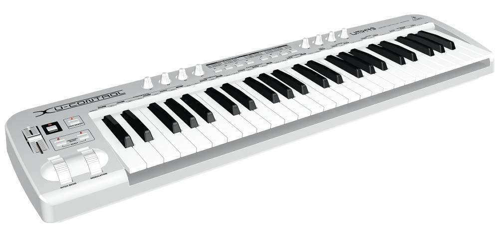 behringer 49 key usb midi controller keyboard w usb audio interface long mcquade musical. Black Bedroom Furniture Sets. Home Design Ideas