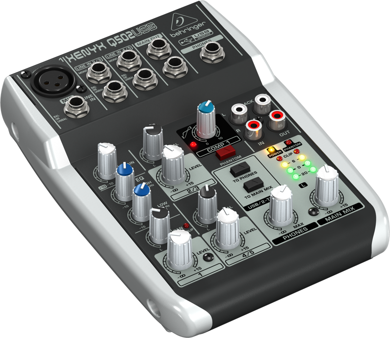behringer 5 input 2 bus mixer w usb audio interface long mcquade musical instruments. Black Bedroom Furniture Sets. Home Design Ideas