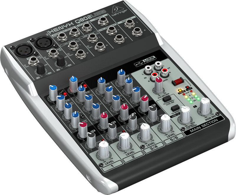 behringer 8 input 2 bus mixer w usb audio interface long mcquade musical instruments. Black Bedroom Furniture Sets. Home Design Ideas